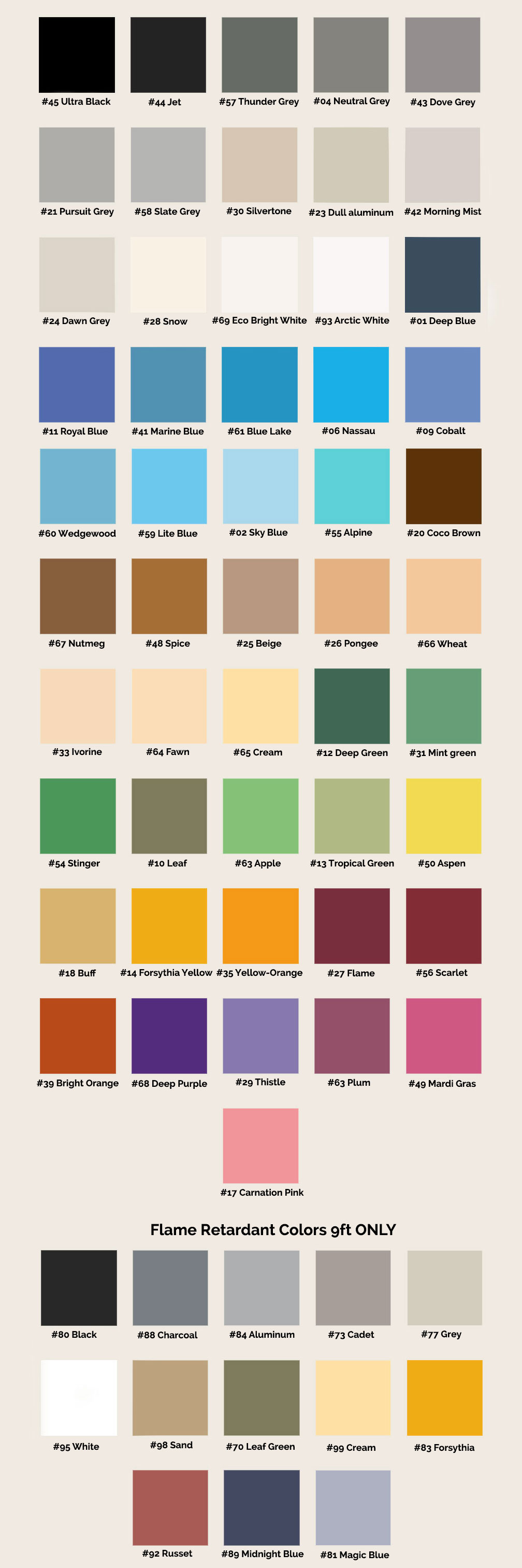 Seamless paper color chart for seamless background paper seamless color chart nvjuhfo Choice Image